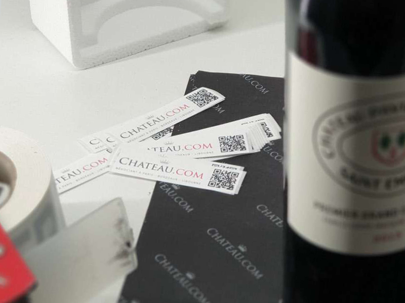 Labels ensuring the verification of the bottles