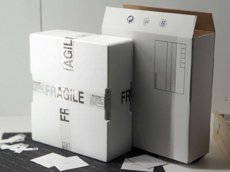Secure packaging closed with adhesive tape