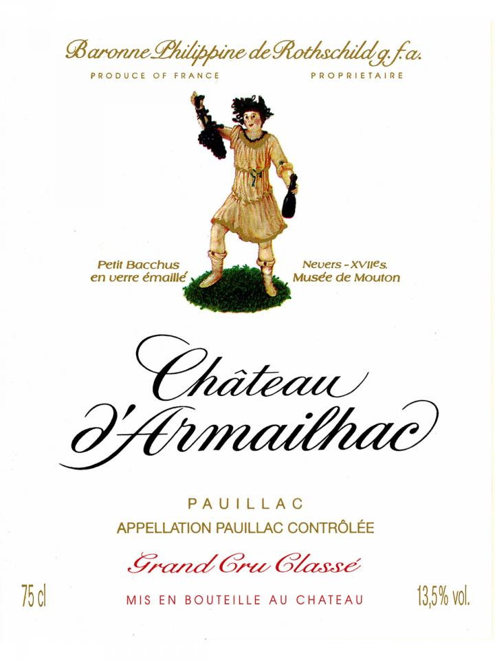 Château d'Armailhac 2012 Original wooden case of 6 bottles (6x75cl)