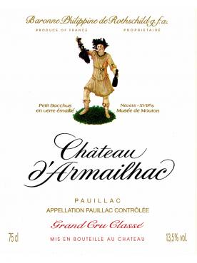 Château d'Armailhac 2015 Original wooden case of 12 bottles (12x75cl)