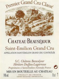 Château Beauséjour Duffau Lagarrosse 2013 Original wooden case of 6 bottles (6x75cl)