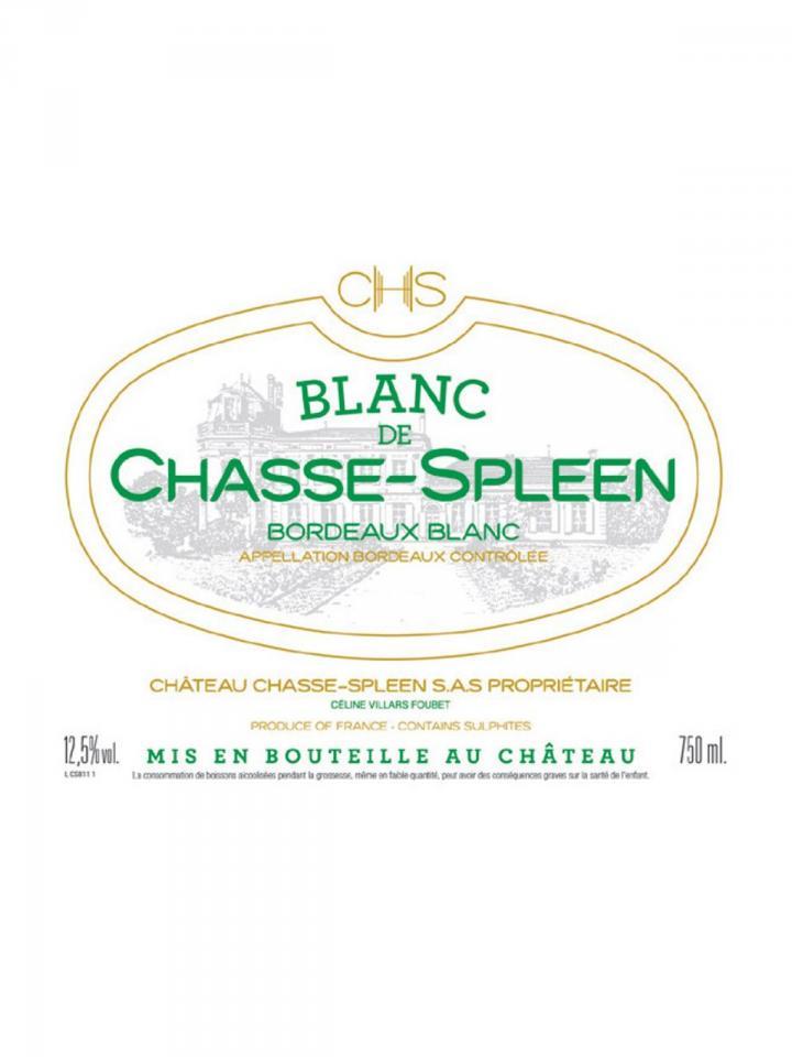 Blanc de Chasse-Spleen 2017 Original wooden case of 12 bottles (12x75cl)