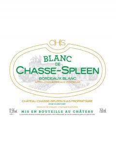 Blanc de Chasse-Spleen 2017 Original wooden case of 12 bottles (12x75cl)