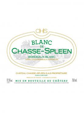 Blanc de Chasse-Spleen 2016 Original wooden case of 12 bottles (12x75cl)