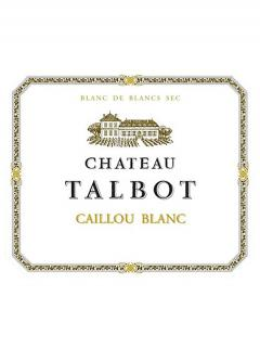 Caillou Blanc de Château Talbot 2017 Original wooden case of 12 bottles (12x75cl)