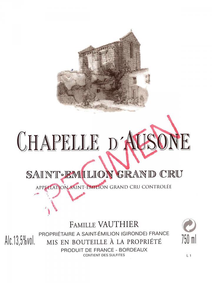 Chapelle d'Ausone 2015 Original wooden case of 6 bottles (6x75cl)