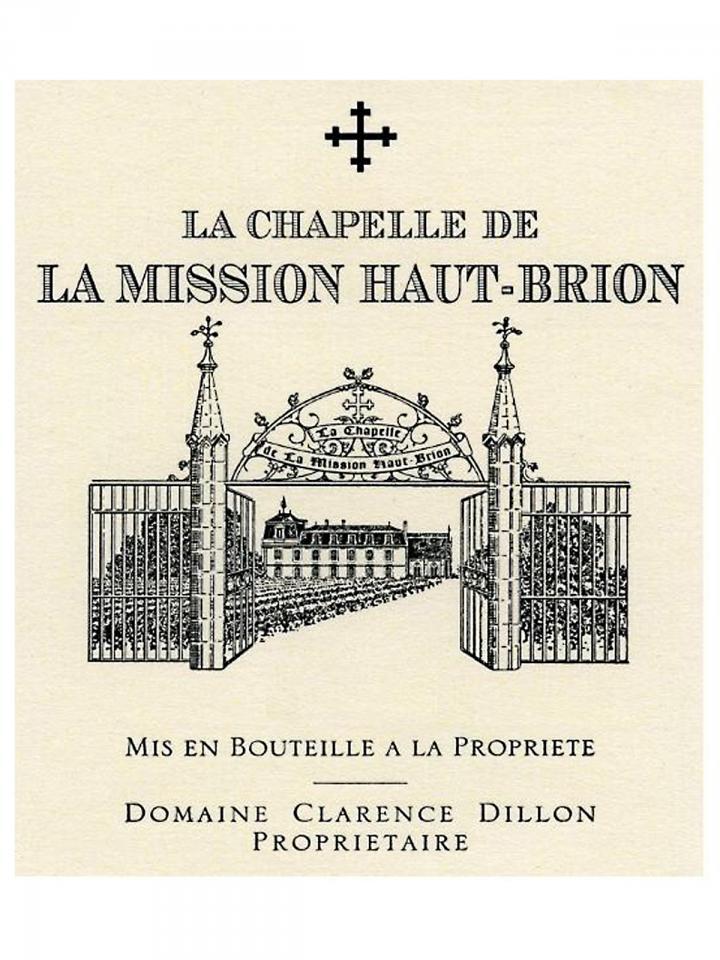 La Chapelle de la Mission Haut-Brion 2014 Original wooden case of 6 bottles (6x75cl)
