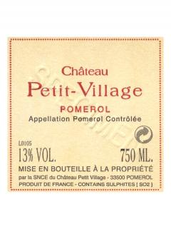 Château Petit-Village 2013 Original wooden case of 6 bottles (6x75cl)