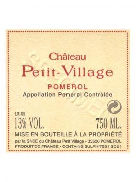Château Petit-Village 2012 Original wooden case of 12 half bottles (12x37.5cl)