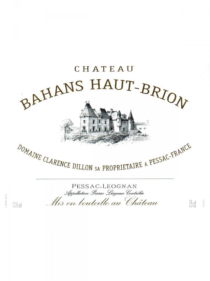 Château Bahans Haut-Brion 1989 Bottle (75cl)
