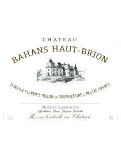 Château Bahans Haut-Brion 2004 Original wooden case of 12 bottles (12x75cl)