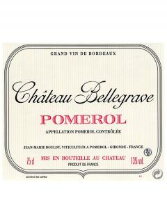Chateau Bellegrave (Pomerol) 2012 Original wooden case of 12 bottles (12x75cl)