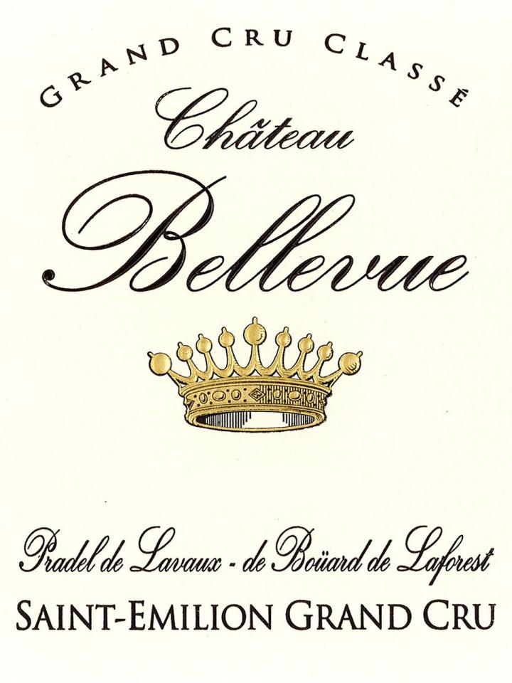 Château Bellevue (Saint-Emilion) 2018 Original wooden case of 12 bottles (12x75cl)