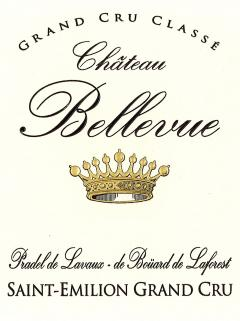 Château Bellevue (Saint-Emilion) 2014 Original wooden case of 12 bottles (12x75cl)
