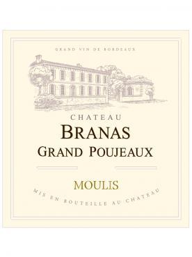 Château Branas Grand Poujeaux 2015 Original wooden case of 6 bottles (6x75cl)