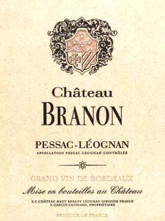 Château Branon 2008 Original wooden case of 6 bottles (6x75cl)