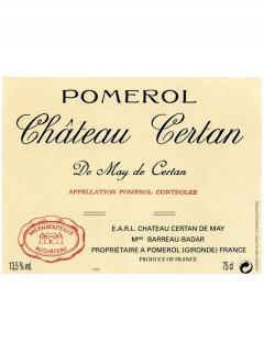 Château Certan de May 2012 Original wooden case of 6 bottles (6x75cl)