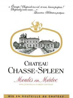 Château Chasse-Spleen 2012 Original wooden case of 12 bottles (12x75cl)