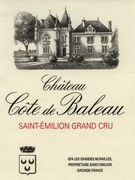 Château Côte de Baleau 2010 Original wooden case of 12 bottles (12x75cl)