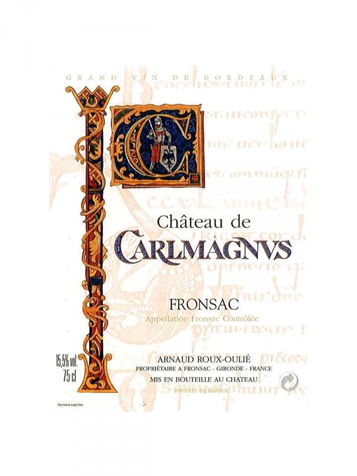 Château de Carlmagnus 2016 Original wooden case of 12 bottles (12x75cl)