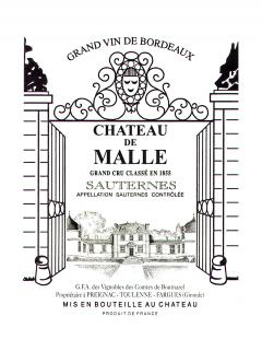 Château de Malle 2009 Original wooden case of 12 bottles (12x75cl)