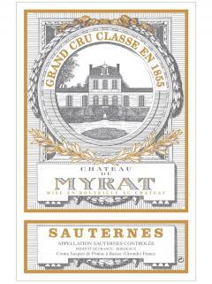 Château de Myrat 2012 Original wooden case of 12 bottles (12x75cl)