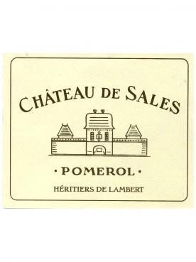 Château de Sales 2015 Original wooden case of 12 bottles (12x75cl)