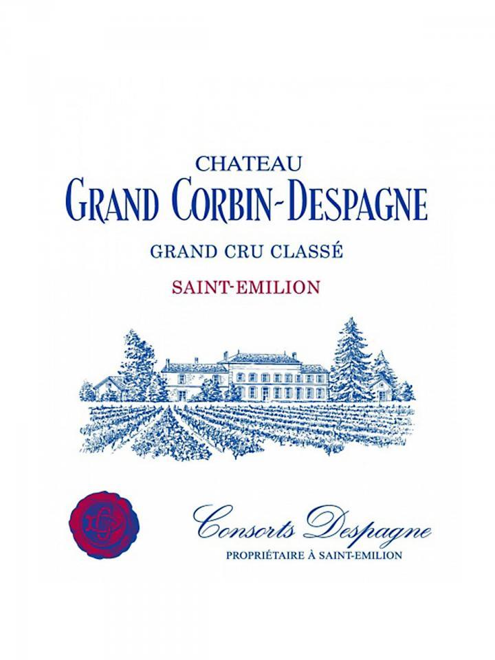 Château Grand Corbin-Despagne 2013 Original wooden case of 12 bottles (12x75cl)