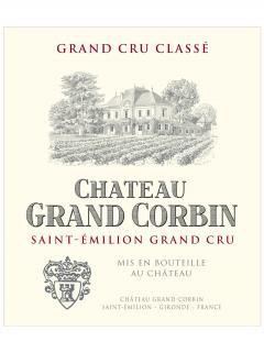 Château Grand Corbin 2018 Original wooden case of 6 bottles (6x75cl)
