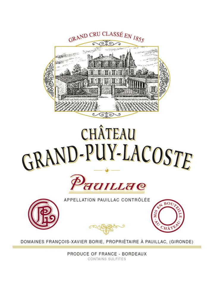 Château Grand-Puy-Lacoste 2011 Original wooden case of 12 bottles (12x75cl)