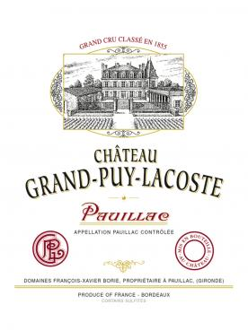 Château Grand-Puy-Lacoste 1995 Original wooden case of 12 bottles (12x75cl)
