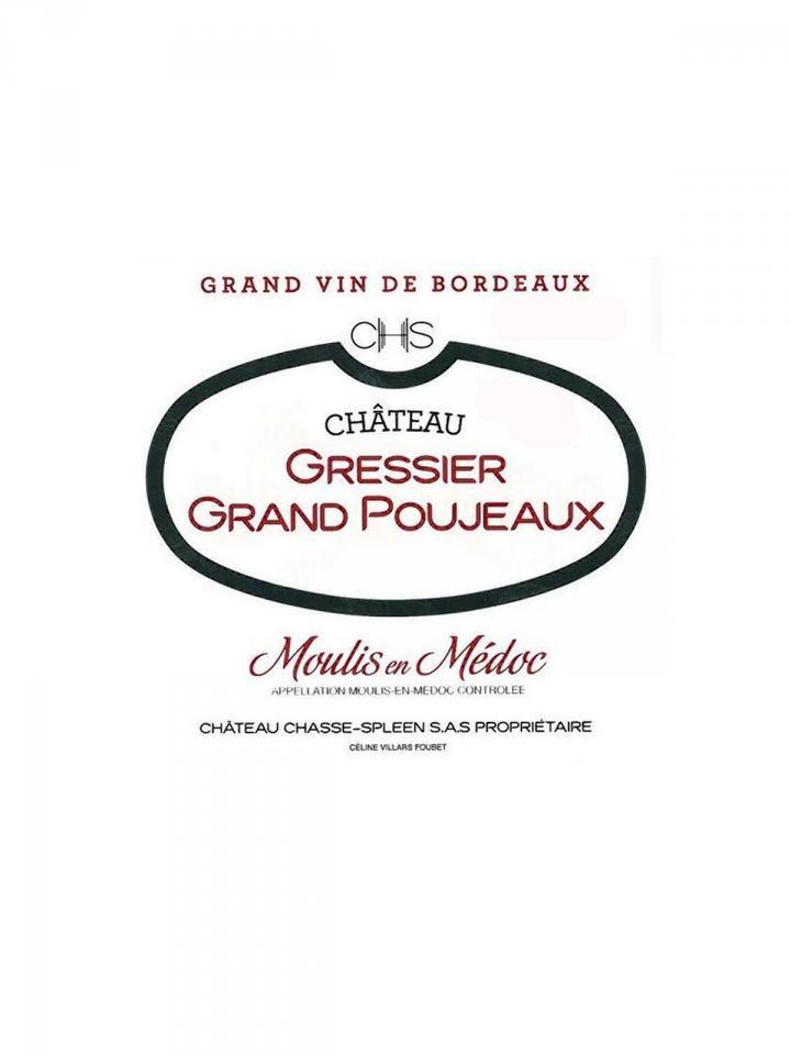 Château Gressier Grand Poujeaux 2012 Original wooden case of 12 bottles (12x75cl)