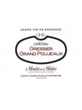 Château Gressier Grand Poujeaux 2008 Original wooden case of 12 bottles (12x75cl)