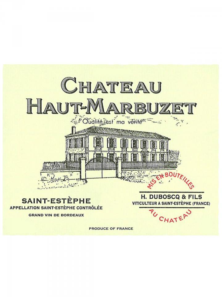 Château Haut-Marbuzet 1985 Original wooden case of 12 bottles (12x75cl)