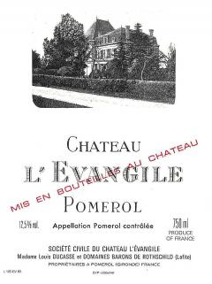 Château l'Evangile 2012 Original wooden case of 6 bottles (6x75cl)