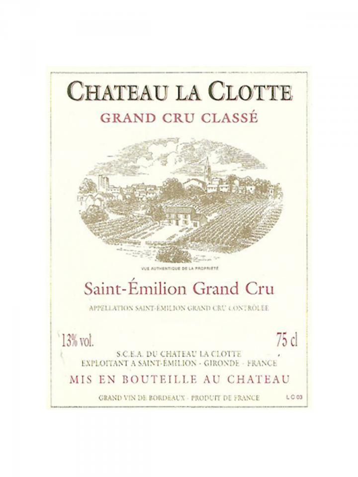 Château La Clotte 2014 Original wooden case of 6 bottles (6x75cl)