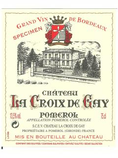 Château La Croix de Gay 2017 Original wooden case of 12 bottles (12x75cl)