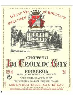Château La Croix de Gay 2013 Original wooden case of 6 bottles (6x75cl)