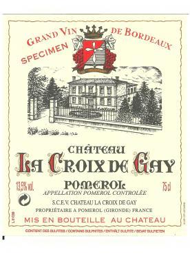 Château La Croix de Gay 2014 Original wooden case of 12 bottles (12x75cl)