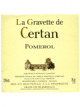 Château La Gravette de Certan 2018 Original wooden case of 6 bottles (6x75cl)