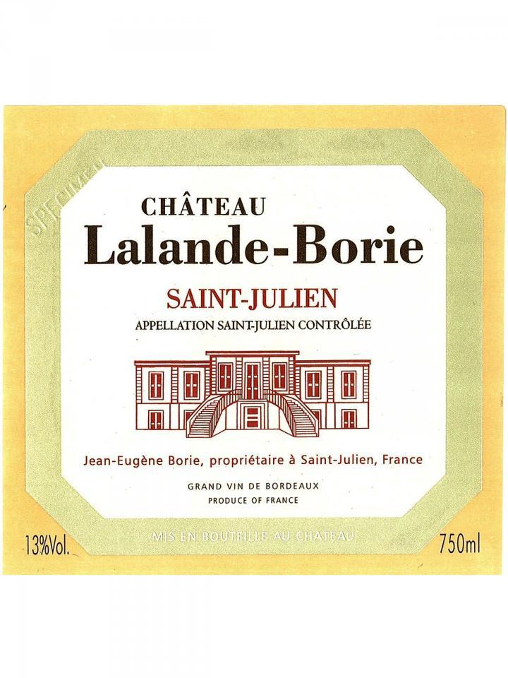 Château Lalande-Borie 2017 Original wooden case of 6 bottles (6x75cl)