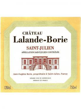 Château Lalande-Borie 2014 Bottle (75cl)