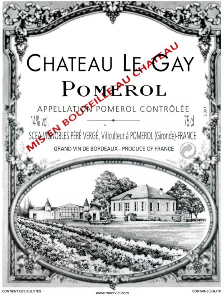 Château Le Gay 2014 Original wooden case of 12 bottles (12x75cl)