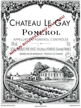 Château Le Gay 2018 Original wooden case of 12 bottles (12x75cl)