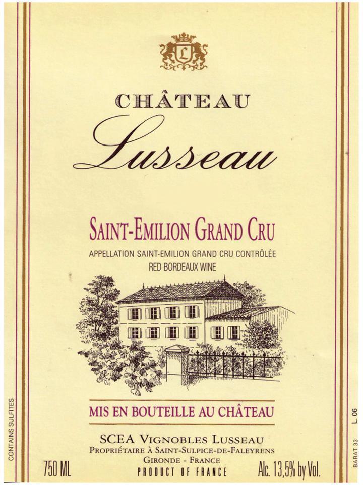 Château Lusseau 2014 Original wooden case of 6 bottles (6x75cl)