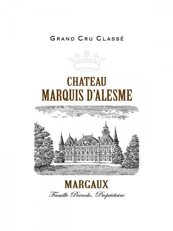 Château Marquis d'Alesme 2018 Original wooden case of 6 bottles (6x75cl)
