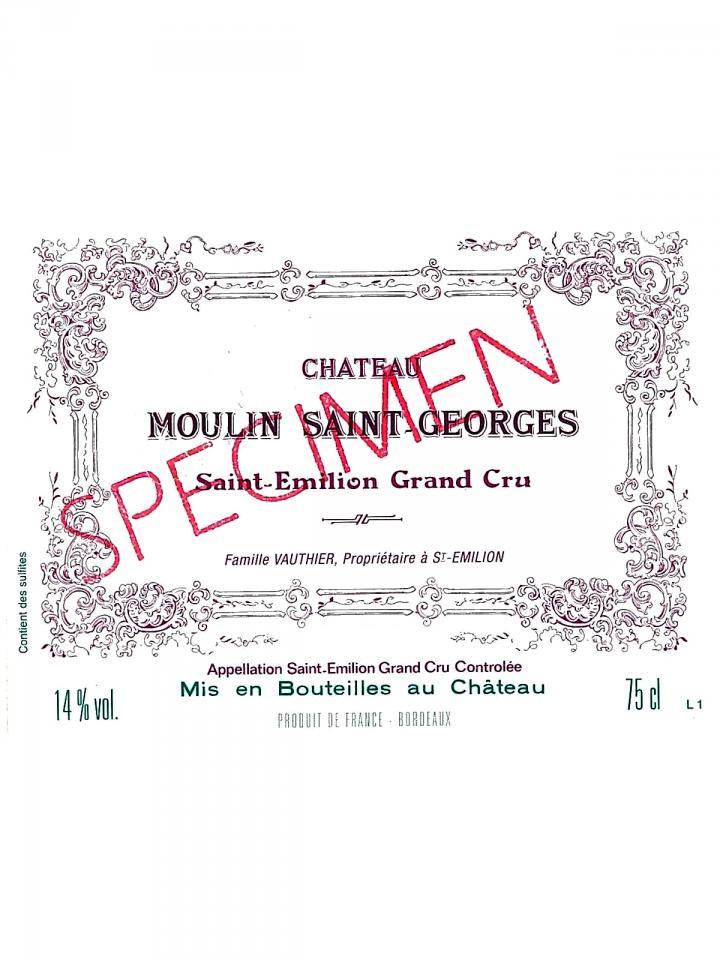 Chateau Moulin Saint-Georges 2011 Original wooden case of 6 bottles (6x75cl)