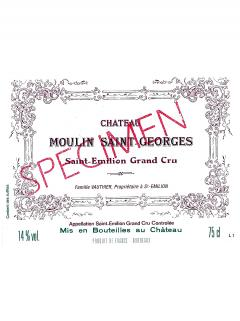 Chateau Moulin Saint-Georges 2014 Original wooden case of 6 bottles (6x75cl)