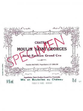 Chateau Moulin Saint-Georges 2011 Original wooden case of 12 bottles (12x75cl)