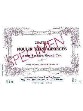 Chateau Moulin Saint-Georges 2018 Original wooden case of 6 bottles (6x75cl)